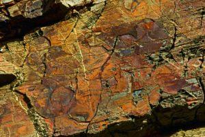 Beautiful colored stone mass