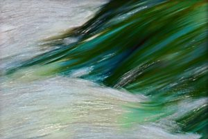 Colored river in Switzerland