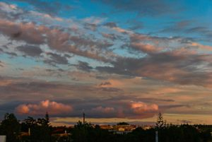 Clouds in sunset in Lagos Portugal