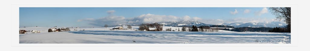 Winter panorama Switzerland