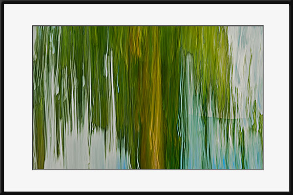 Weeping willow photo like painting